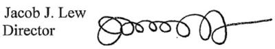 Jack Lew's signature
