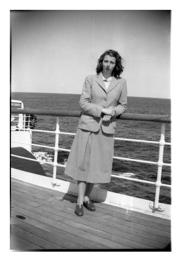 Vivian Maier in the 1950s