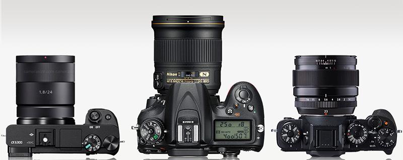 Sony, Nikon, Fuji