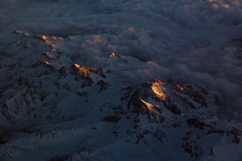 Seirra Nevada Nightfall Embers of Peaks