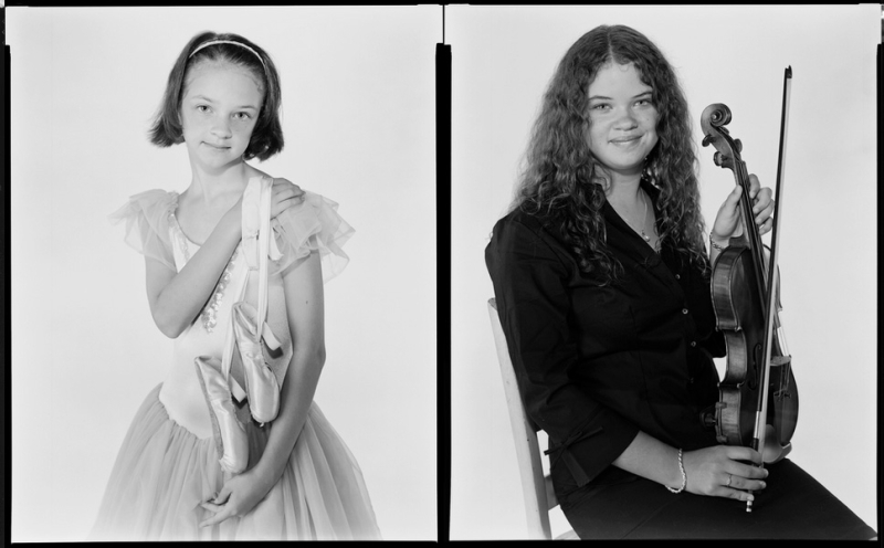 At first i thought these 8x10 contact prints from reader thom bennetts website might be the same young lady at different ages but it turns out theyre