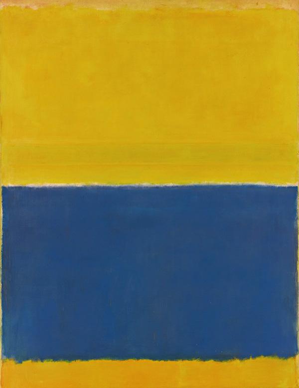 Rothko yellow and blue