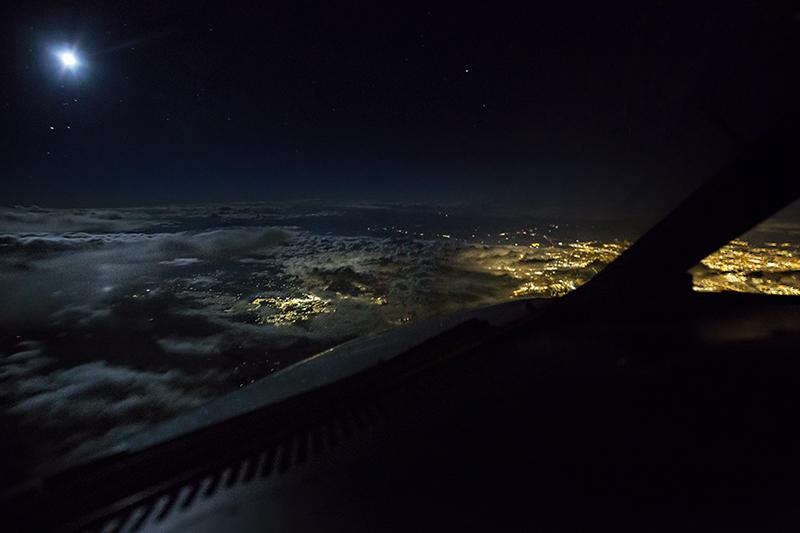 Moonlight Ride above Denver