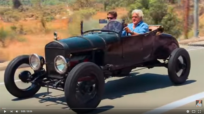 Jay Leno in a Rat Rod