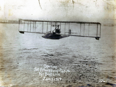 First passenger flight