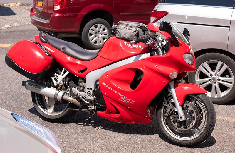 Swoopy red bike