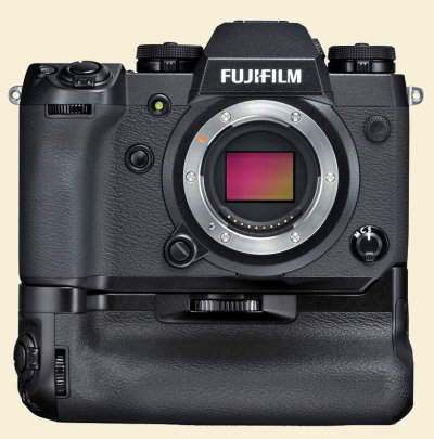 Fuji x-h1 with booster