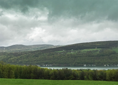 Keuka in the rain-2