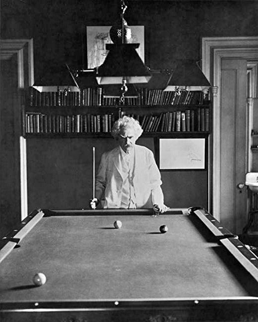 Mark Twain billiards