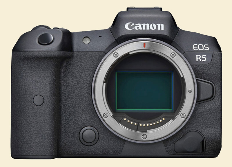 Canon R5 front