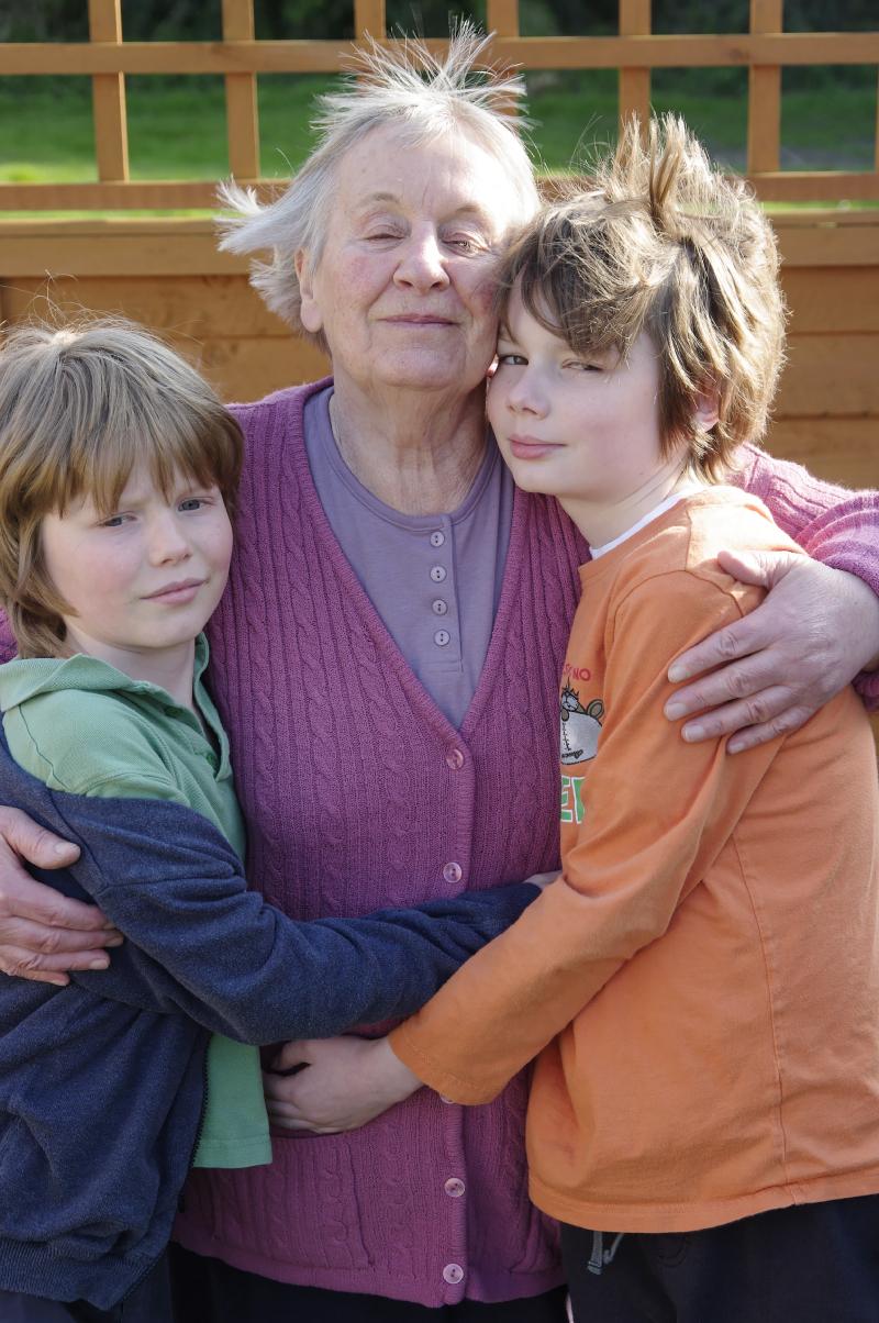 Bradbury The boys with their grannie